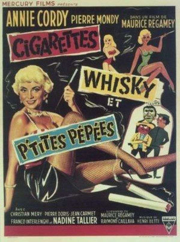 Cordy affiche Cigarettes whisky et petites pepees