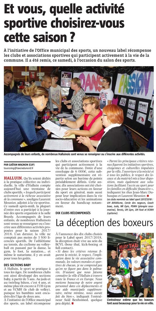 20170913 Office Sports VdN revue de presse