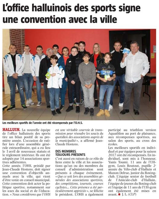 20180223 OM Sports convention NE revue de presse